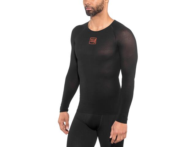 Compressport 3D Thermo UltraLight Koszulka do biegania z długim rękawem czarny